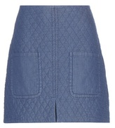 See by Chloe Quilted cotton miniskirt