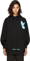 Off-White Black Oversized not Real Dove Hoodie