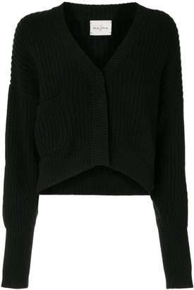 Le Kasha V-neck ribbed-knit cardigan
