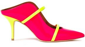 Malone Souliers Maureen 70 Two-tone Neon Patent-leather Mules