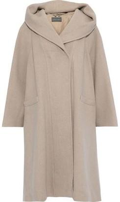 Alberta Ferretti Wool And Cashmere-blend Hooded Coat