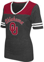 Women's Stadium Oklahoma Sooners College Twist V-Neck T-Shirt