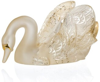 Lalique Swan Head Down Figure