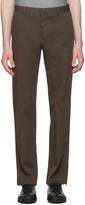 Jil Sander Brown Twill Morris Trousers