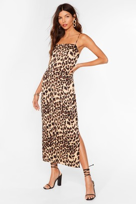 Nasty Gal Womens Meow About Now Leopard Midi Dress - Brown - 4