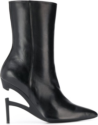 Unravel Project pointy-toe ankle boots