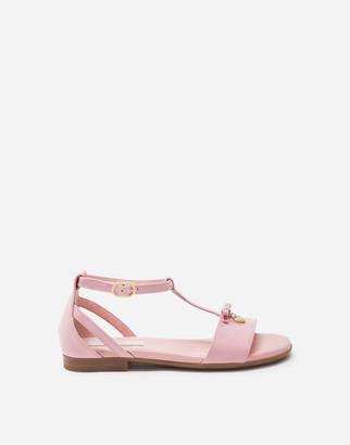 Dolce & Gabbana T-Strap Patent Leather Sandal