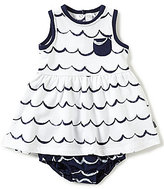 Petit Lem Baby Girls 3-24 Months Nautical Wave Print Sleeveless Dress