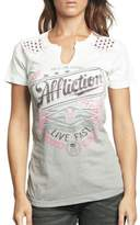 Affliction Women's Lager Short Sleeve T-shirt L