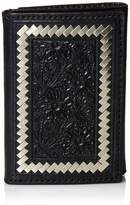 Ariat Unisex-Adult's Steel Lace Floral Trifold Wallet