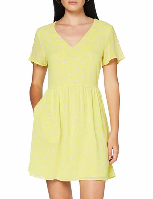 Calvin Klein Jeans Women's V-Neck Chiffon Dress