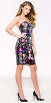 Jovani Strapless Multi Print Fitted Party Dress