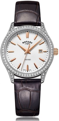 Rotary Watches Oxford Silver Stainless Steel Quartz Watch
