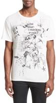 R 13 Men's Doodle Print T-Shirt