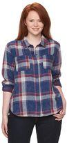 Mudd Juniors' Plus Size Plaid Shirt