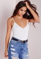 Missguided Petite Cami Strap Bodysuit White