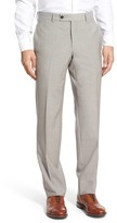 Ted Baker 'Jefferson' Flat Front Solid Wool Trousers