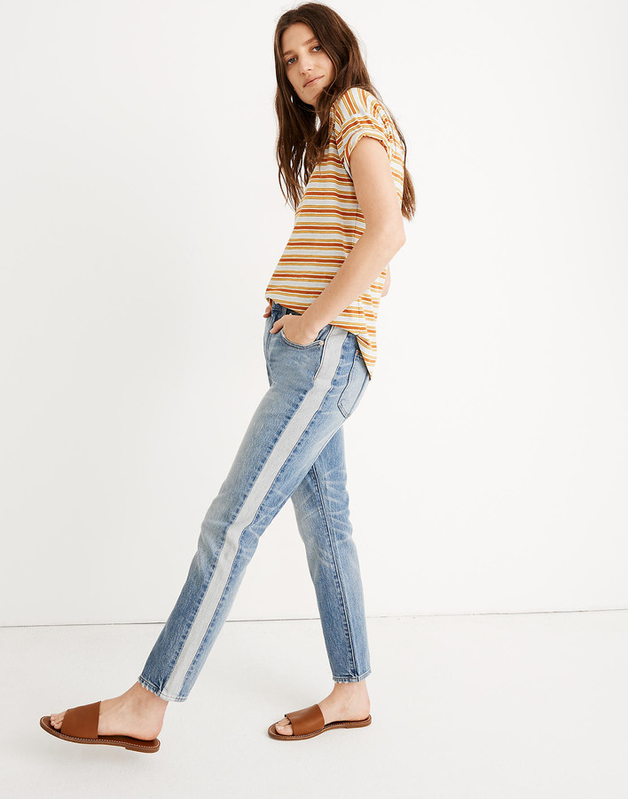 Silver Jeans Co Womens Vintage Slim Tuxedo Stripe Jeans
