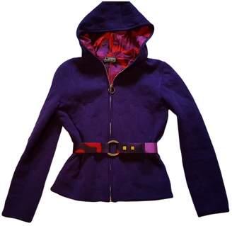 Gianni Versace Purple Wool Jacket for Women Vintage
