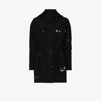 Burberry Dartmouth tonal logo printed parka