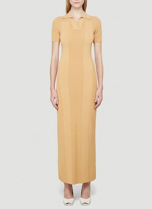 Jacquemus Open Back Collared Maxi Dress