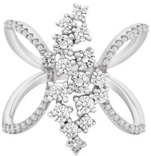 Macy's Diamond Open-Work Ring (1 ct. t.w.) in 14k White Gold