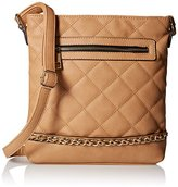 MG Collection Quilted Messenger Bag