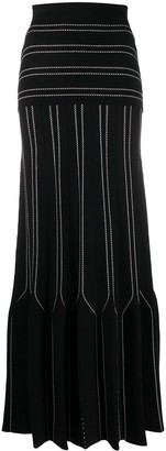 Elisabetta Franchi High-Rise Striped Maxi Skirt