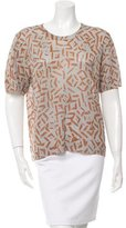Dries Van Noten Metallic Printed Top