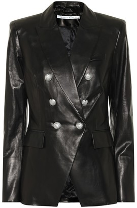 Veronica Beard Miller Dickey leather blazer