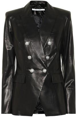 Veronica Beard Miller Dickey leather blazer