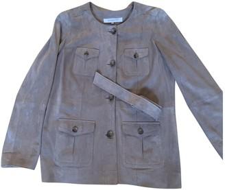 Gerard Darel Beige Leather Jacket for Women