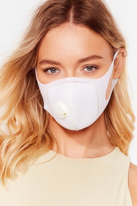 Nasty Gal Womens Neoprene There Done That Fashion Face Mask - White - ONE SIZE, White