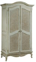 The Well Appointed House Grand Armoire in Versailles Blue with Gold Leaf Accents