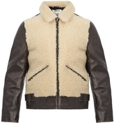 Acne Studios Shearling-trimmed leather bomber jacket