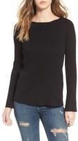 Women's Love By Design Cross Back Rib Knit Pullover