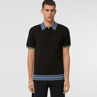 Burberry Icon Stripe Detai Merino Woo Poo Shirt