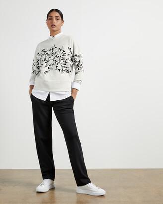 Ted Baker LYHNDI Bergamot flocked sweatshirt