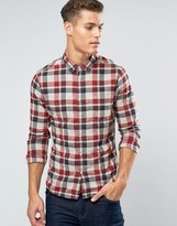 Esprit Slim Fit Check Shirt with Double Pocket