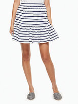 Kate Spade Stripe cotton flounce skirt