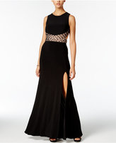 Blondie Nites Juniors' Embellished Open-Back Gown