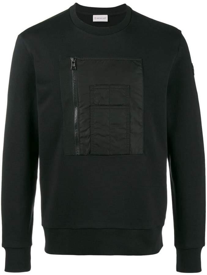 Moncler zip pocket chest sweatshirt