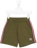 Moncler side stripe shorts - kids - Cotton - 10 yrs