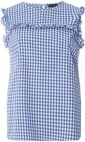 Navy Gingham Sleeveless Top