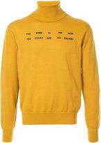 Facetasm embroidered quote jumper