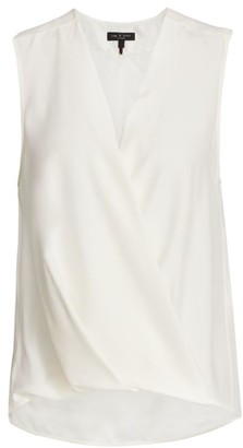 Rag & Bone Victor Sleeveless Wrap Blouse