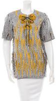 Maison Margiela Embellished Short Sleeve Top w/ Tags