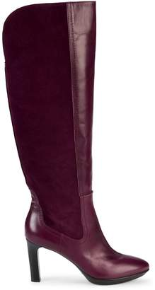 Aquatalia Ruby Leather & Suede Tall Boots