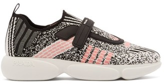 Prada Cloudbust Low-top Technical-knit Trainers - Womens - Black Multi