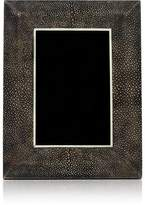 "R & Y Augousti Shagreen-Covered Wood 4"" x 6"" Picture Frame"